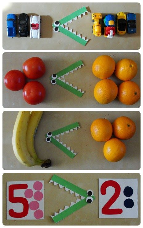 Using real objects to make math more concrete - comparing numbers