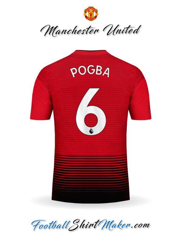 ec131b94d99e5 Camiseta Manchester United 2018 19 Pogba 6