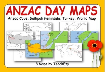 Anzac day gallipoli maps powerpoint and pdf version teacher pay anzac day gallipoli maps powerpoint and pdf version gumiabroncs Gallery