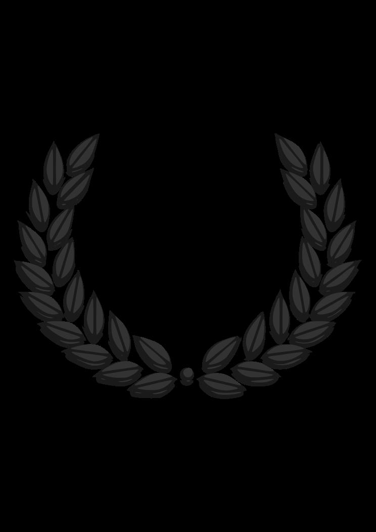 Free Laurel Wreath Svg : laurel, wreath, Laurel, Wreath, Black, White, Files,