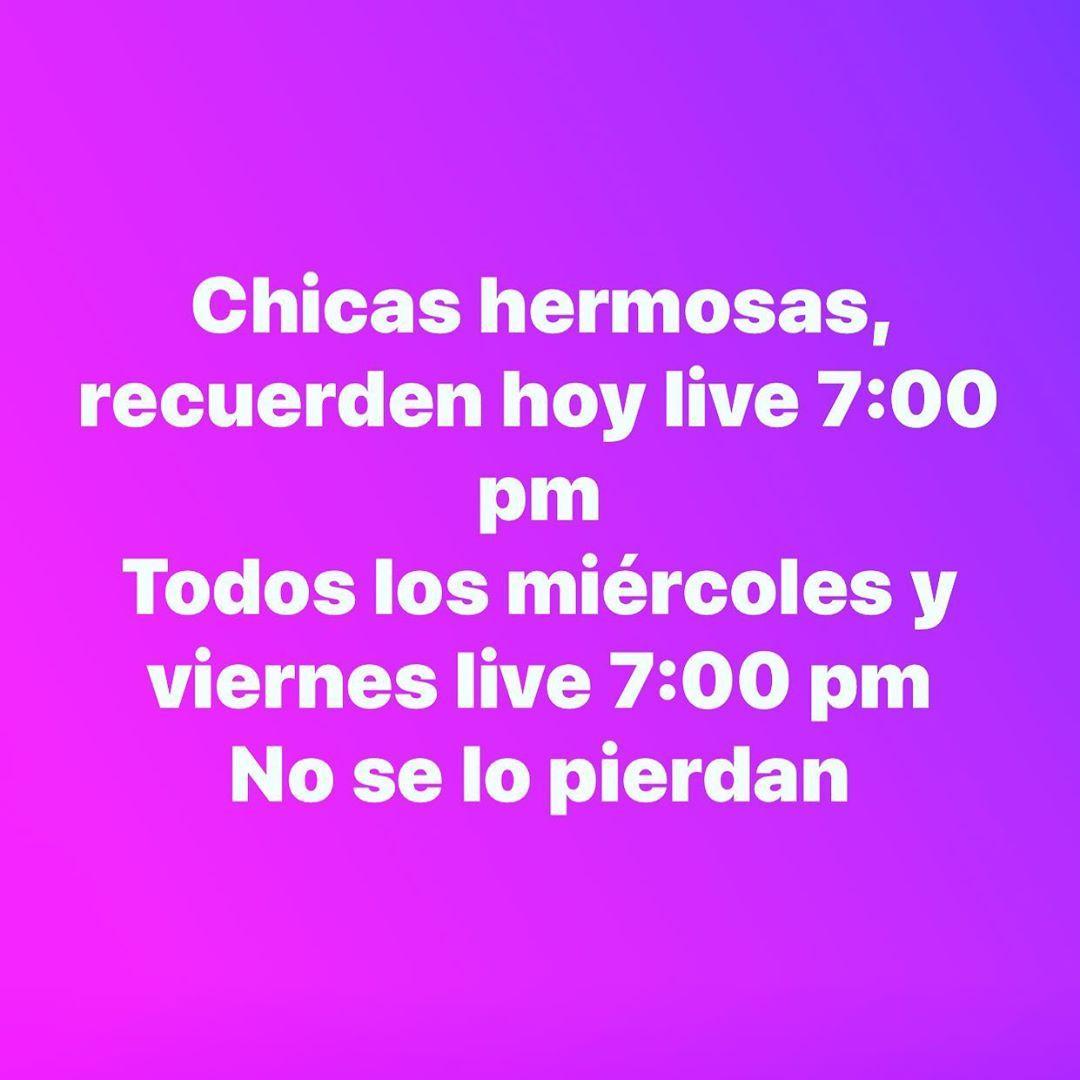 follow us for more Chicas hermosas recuerden hoy live 700 pm