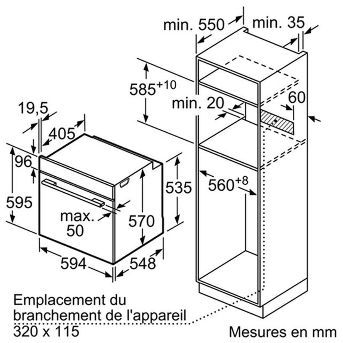 Four Encastrable Hb557a5s0 Taille Taille Unique Micro Onde Combine Four Encastrable Et Four Electrique
