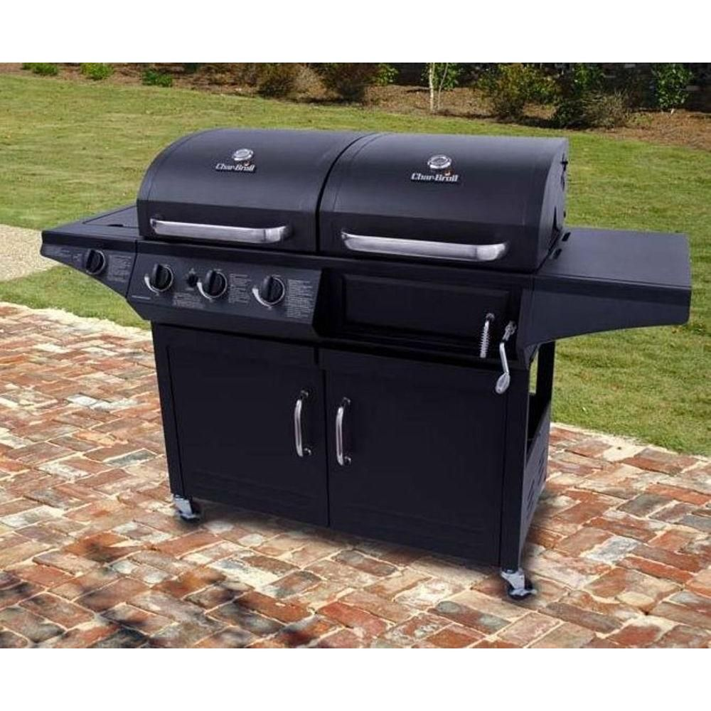 Char Broil Triple Function Propane Gas Charcoal Grill With Side