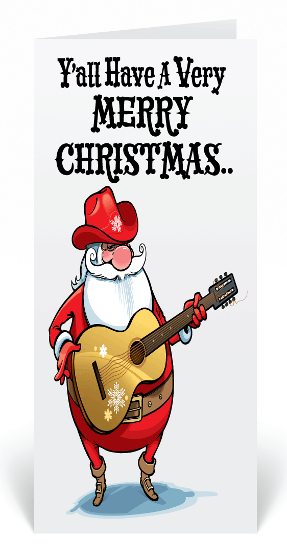Cowboy western santa holiday cards funny cartoon santa business cowboy western santa holiday cards funny cartoon santa business greeting card humorous santa christmas colourmoves