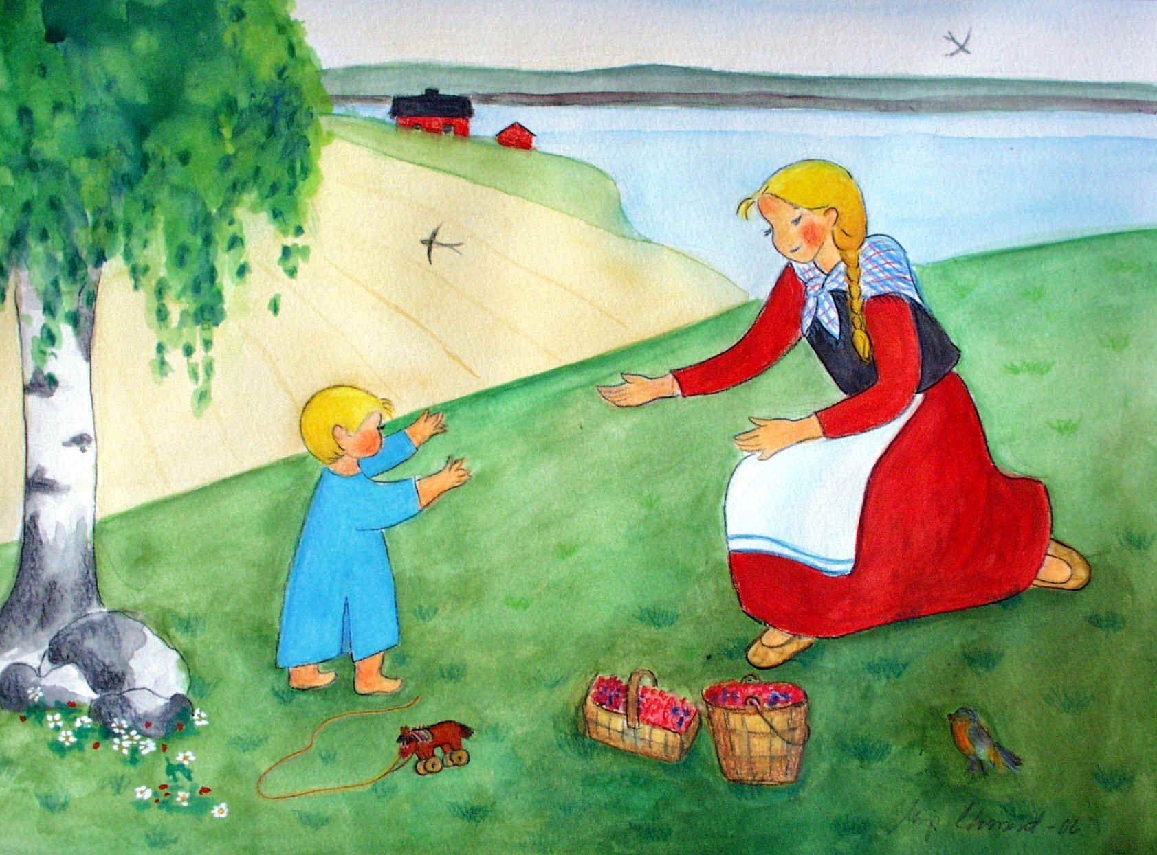 """""""One More Hug"""" - watercolors"""