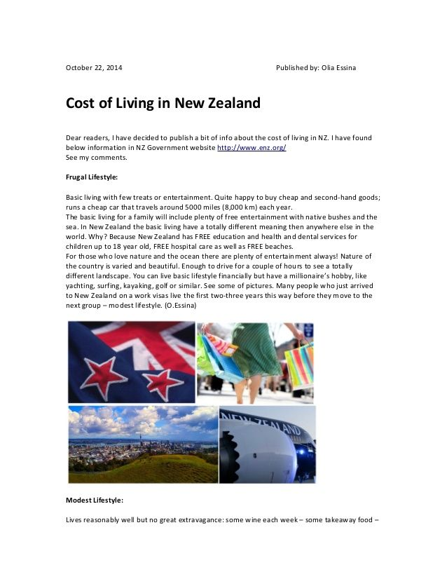 A Bit Of Info About The Cost Of Living In Nz Read It Here Cost