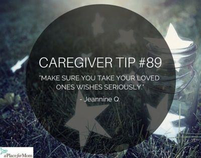 Don't forget who you are caregiving for and don't forget they have a voice in this. Read more inspirational posts.