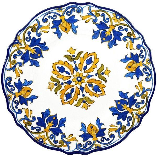 Le Cadeaux Seville White 11\  Round Dinner Plate (£11) ❤ liked on  sc 1 st  Pinterest & Le Cadeaux Seville White 11\
