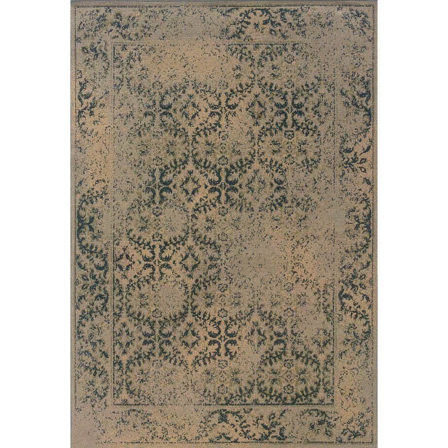 This Beautiful Transitional Area Rug Has The Look Of An