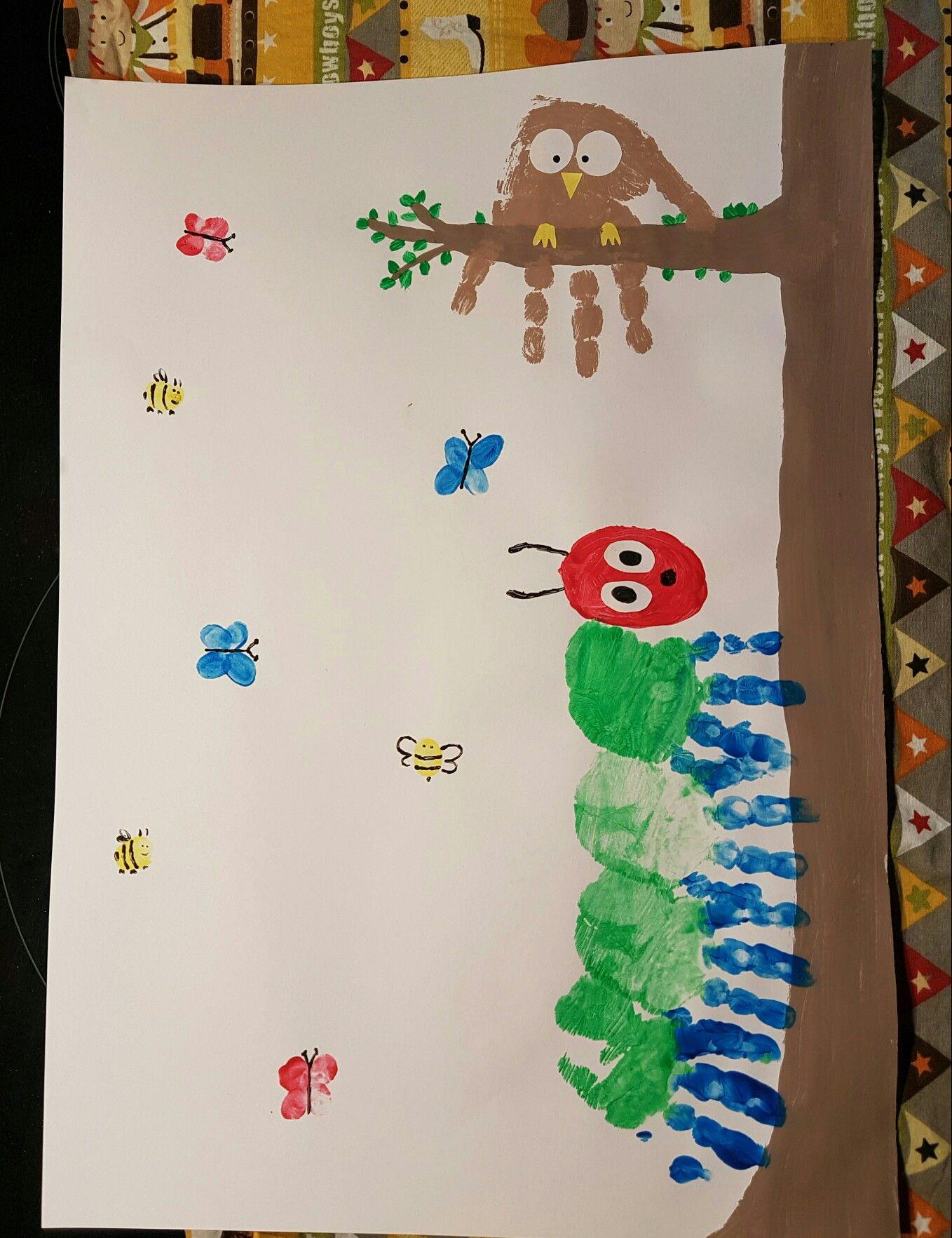 Fingerfarbe mit Kindern