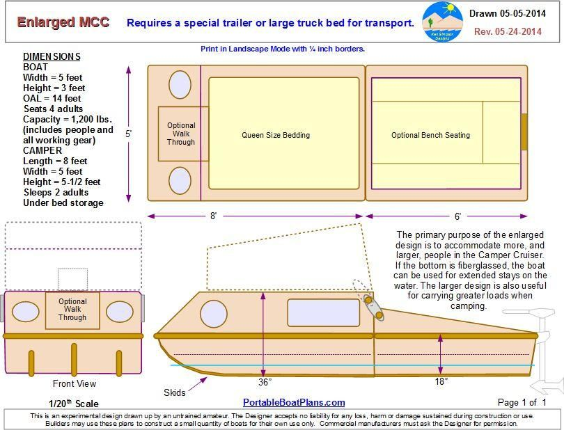 Portable Boat Plans   boats   Wooden boat plans, Plywood
