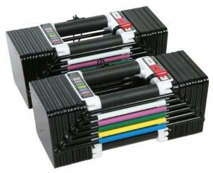Best Adjustable Dumbbells no. 2. Power Block Elite Dumbbells. This set of versatile dumbbells is also adjustable, but in a different way than the Bowflex model.