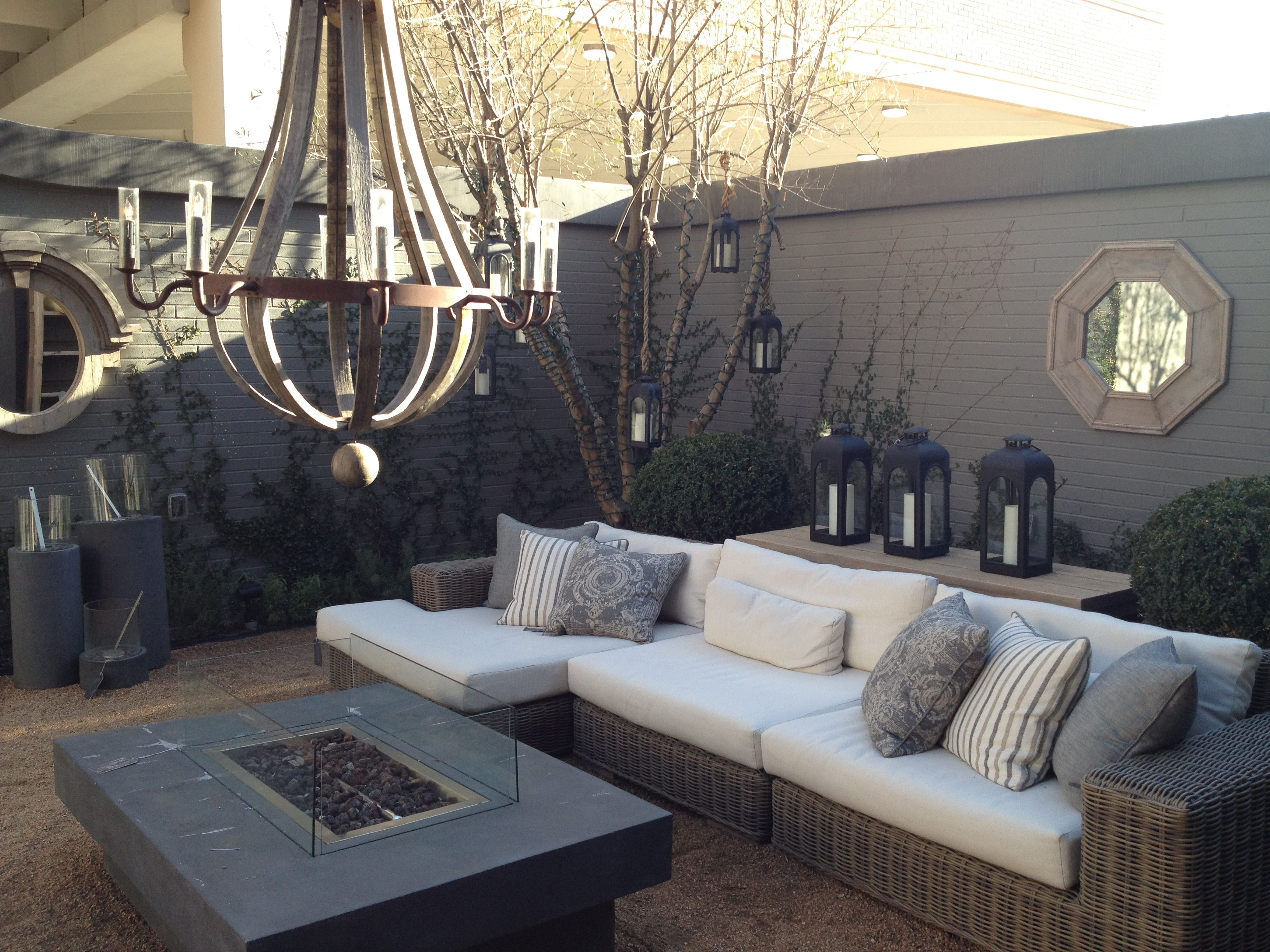 Pin By Muddy Fish Cottage On Garden Inspiration Outdoor Room Furniture Patio Furniture Placement Restoration Hardware Outdoor