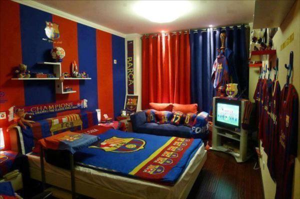 Pokój dla fana drużyny FC Barcelona. http://domomator.pl/pokoj-dla ...