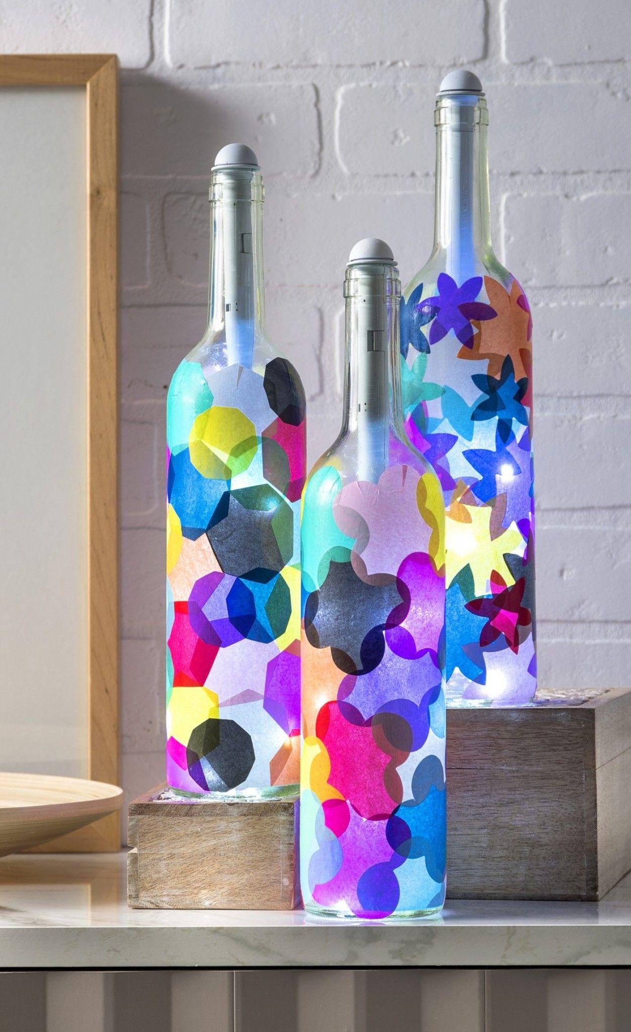 Wine Bottle Crafts Light My Bottles Wine Bottle Diy Crafts