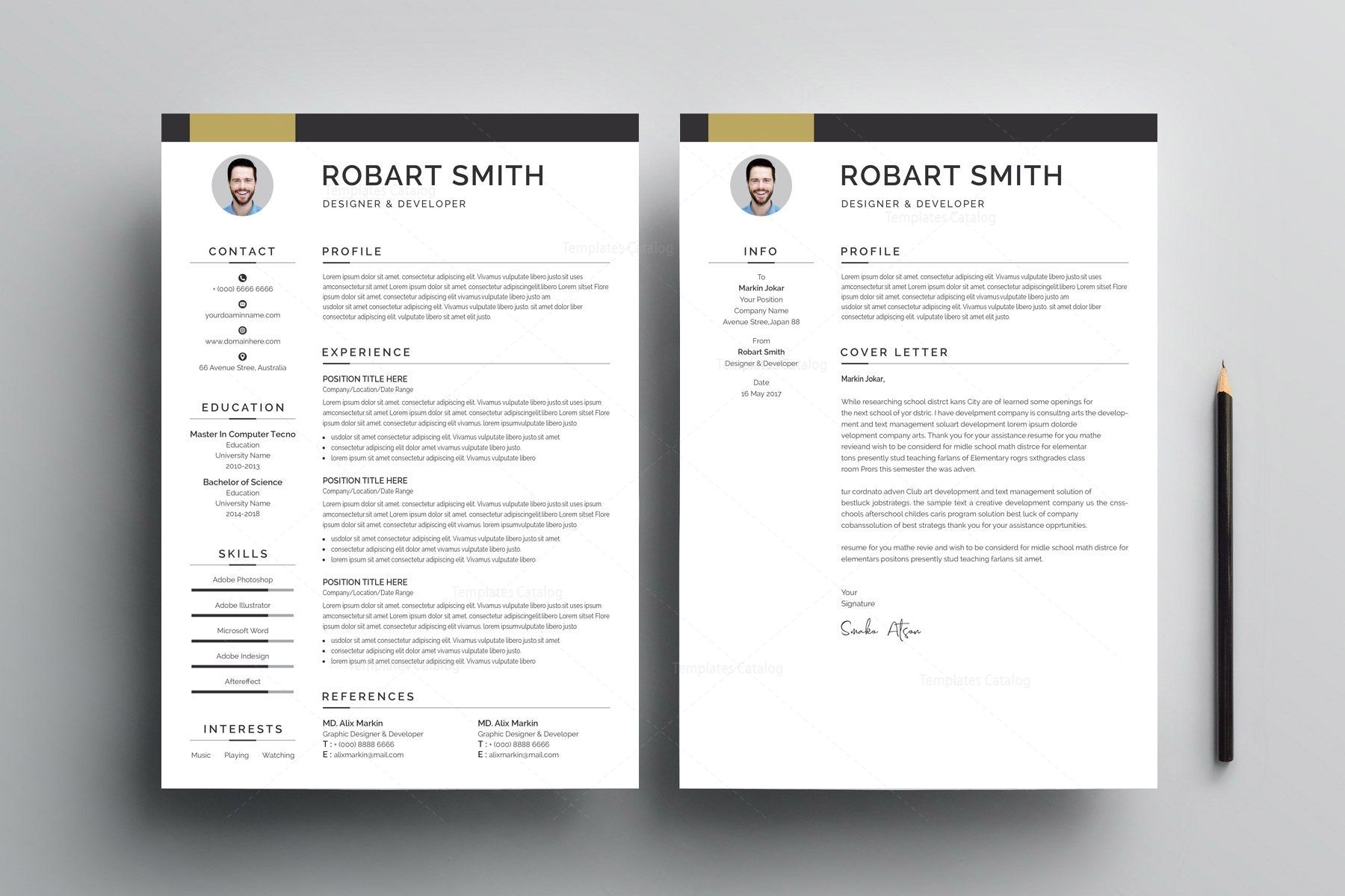 Modern resume template 002907 modern resume template