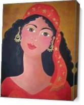 Gypsy In Red As Canvas