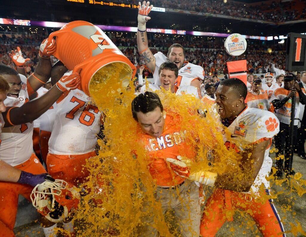 Orange bowl 2014 champs clemson tigers football