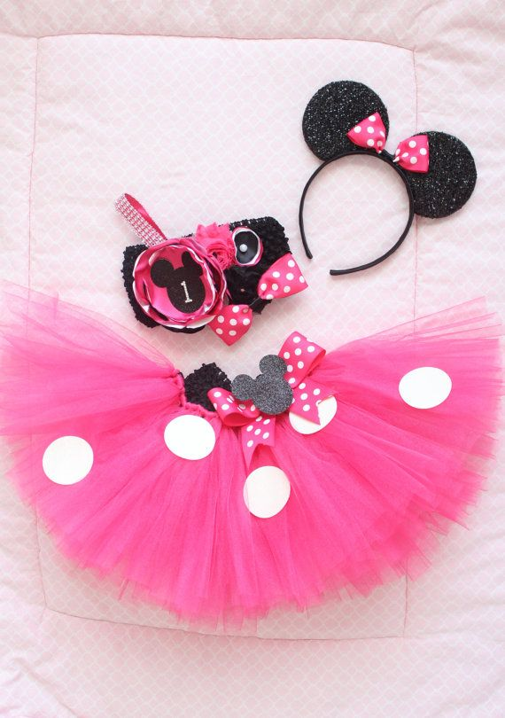 b51bf2502308 Gorgeous Minnie Mouse Birthday Outfit Tutu Set in Hot Pink 3 Piece ...