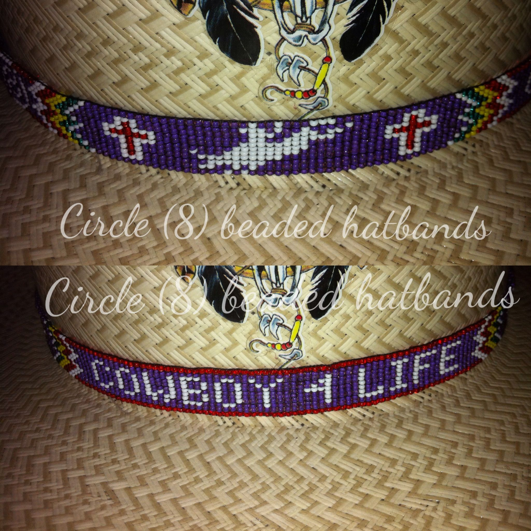 Circle 8 Beaded Hatband Quot The Bull Rider Hat Band