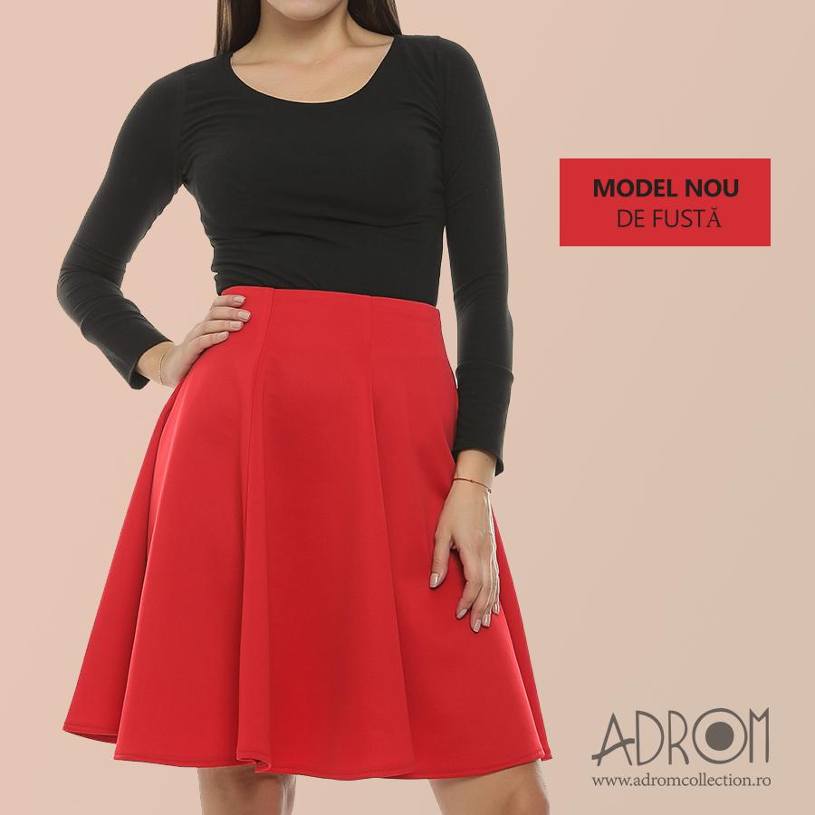 Surprinde-ți și tu clienții, aprovizionându-ți magazinul cu noul model de fustă marca Adrom Collection. Comandă en-gros online: http://www.adromcollection.ro/562-fusta-angro-f044.html
