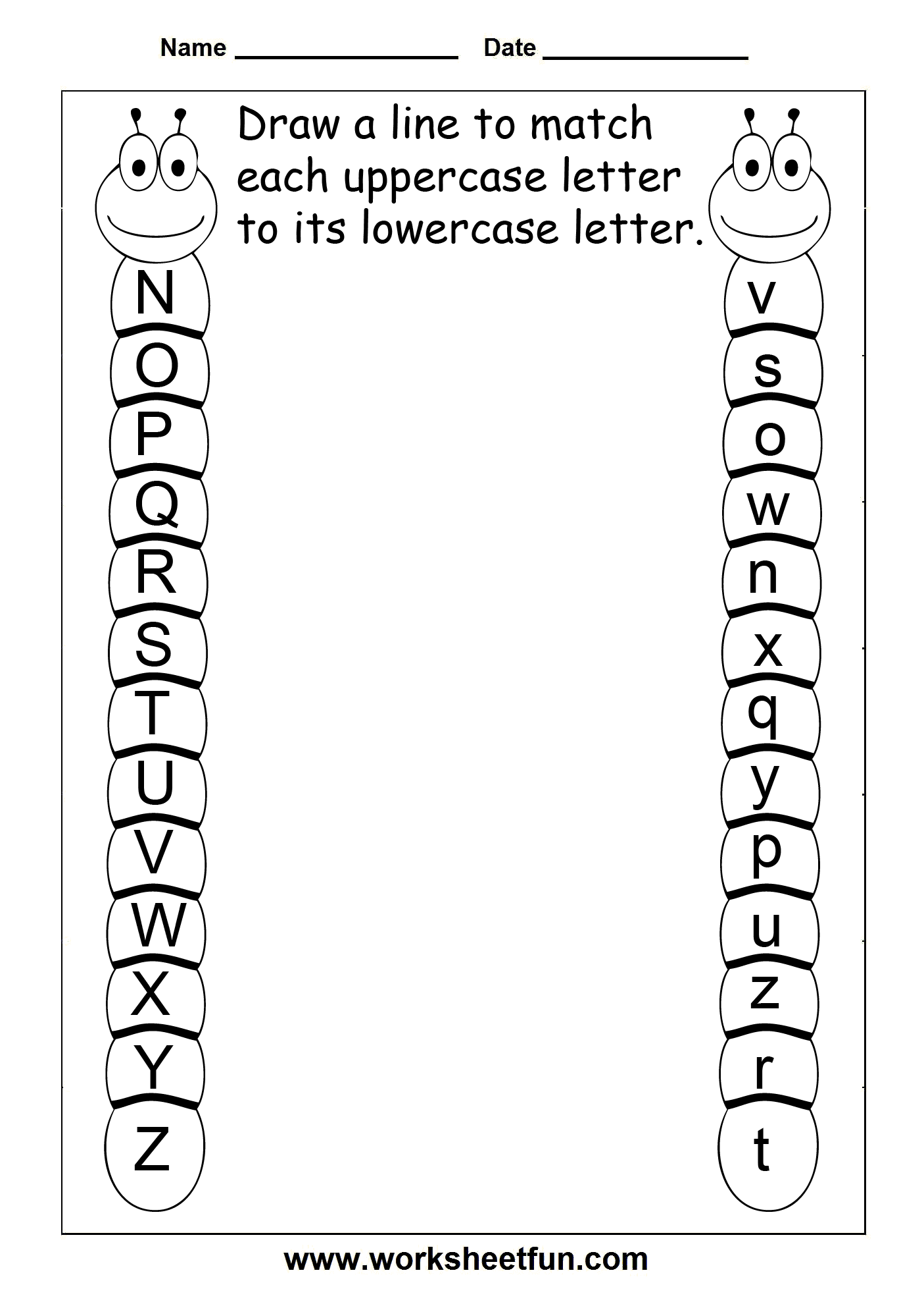 uppercase lowercase letters\ | Pre-K Alphabet worksheets/activities ...