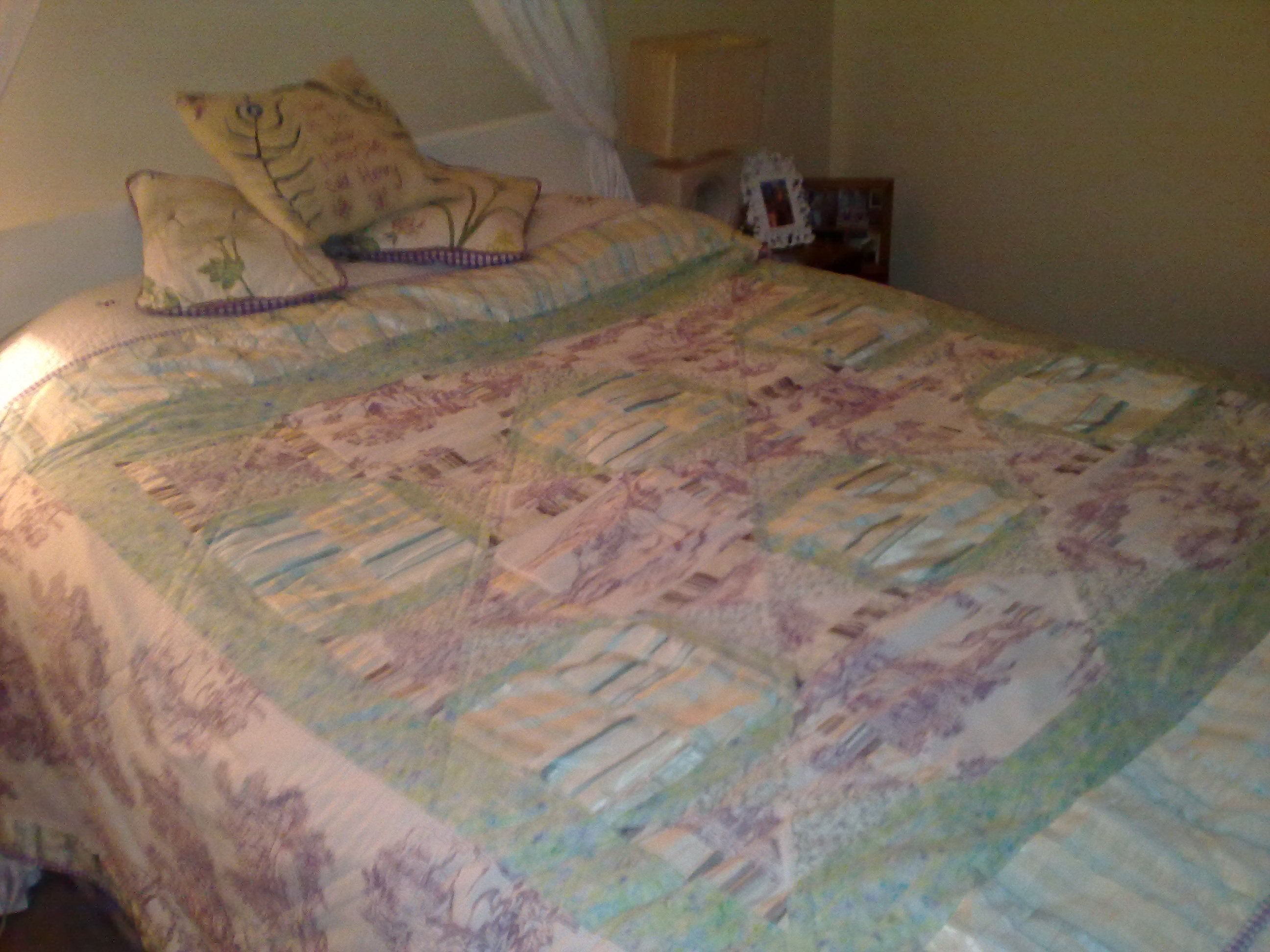 lilac and mint silk and toile quilt 2011 jo johnson