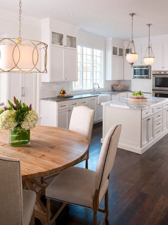 White Kitchen By Ellen Grasso Sons Photography By Danny - Round kitchen light fixtures