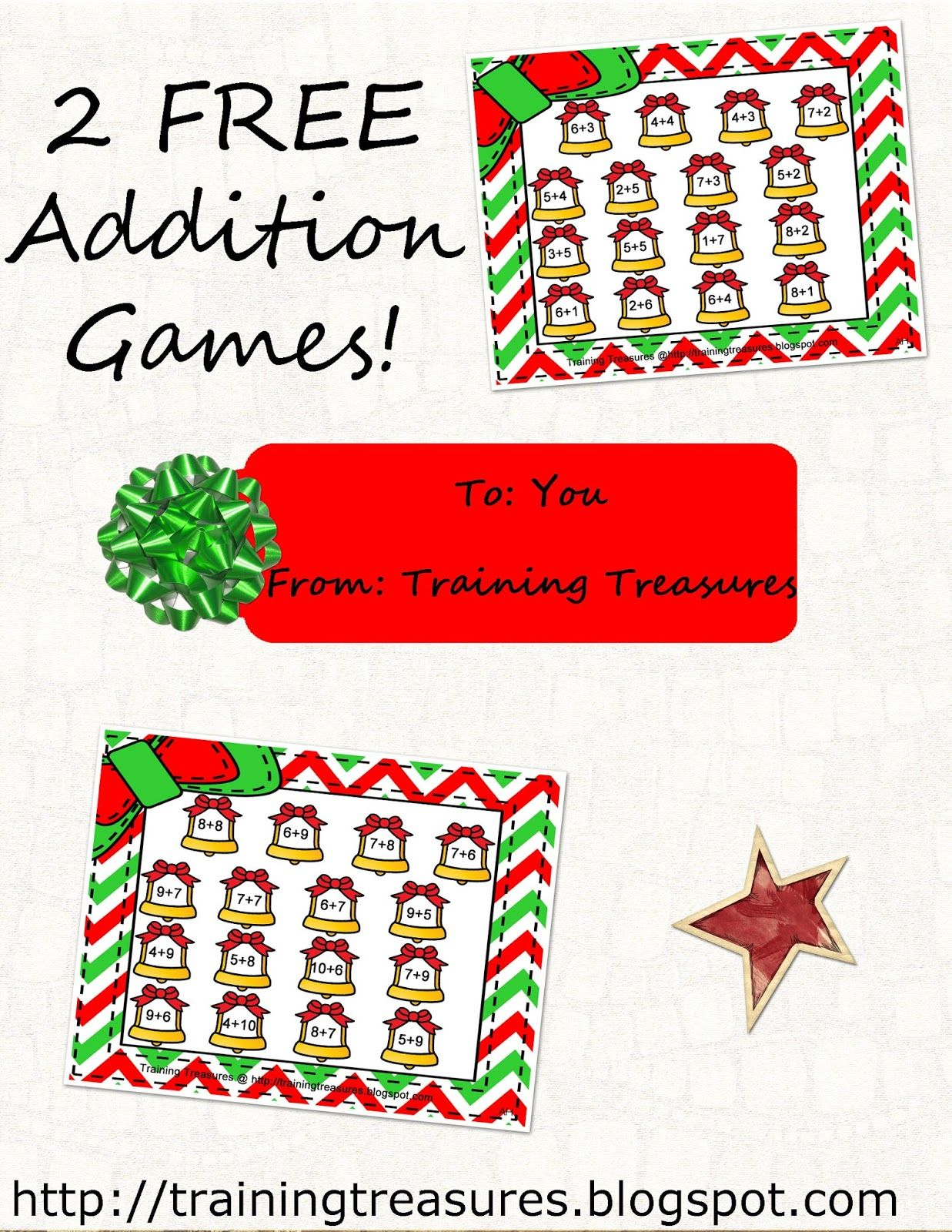2 Free Christmas Bell Addition Games