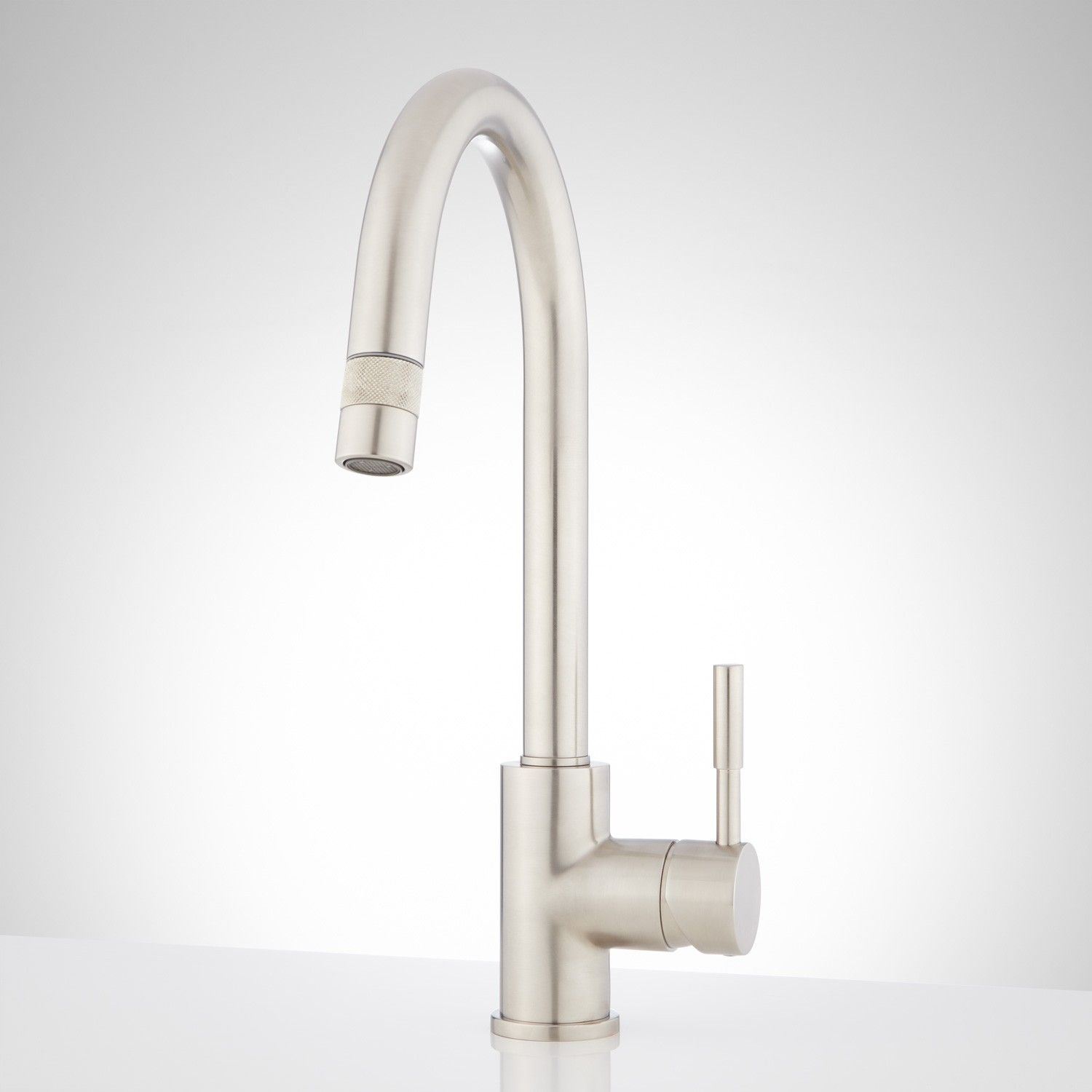 Cooley Single Hole Kitchen Faucet With Pull Down Spray Single