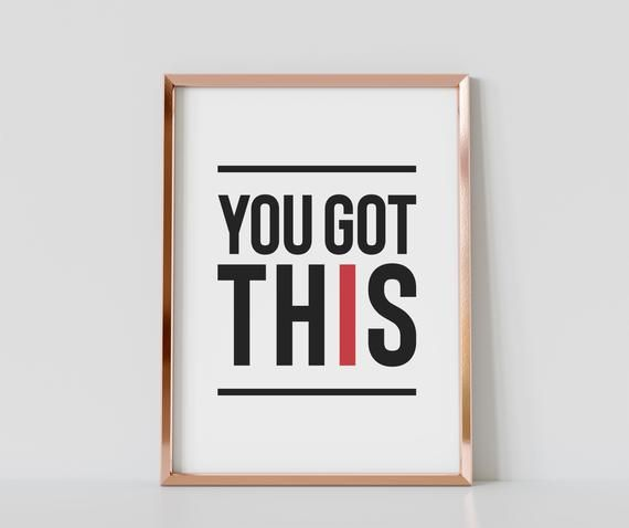 You Got This Quote Gym Wall Poster Gym Motivational Poster   Etsy