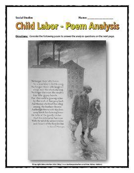 Industrial Revolution Child Labor Source Poem Analysis