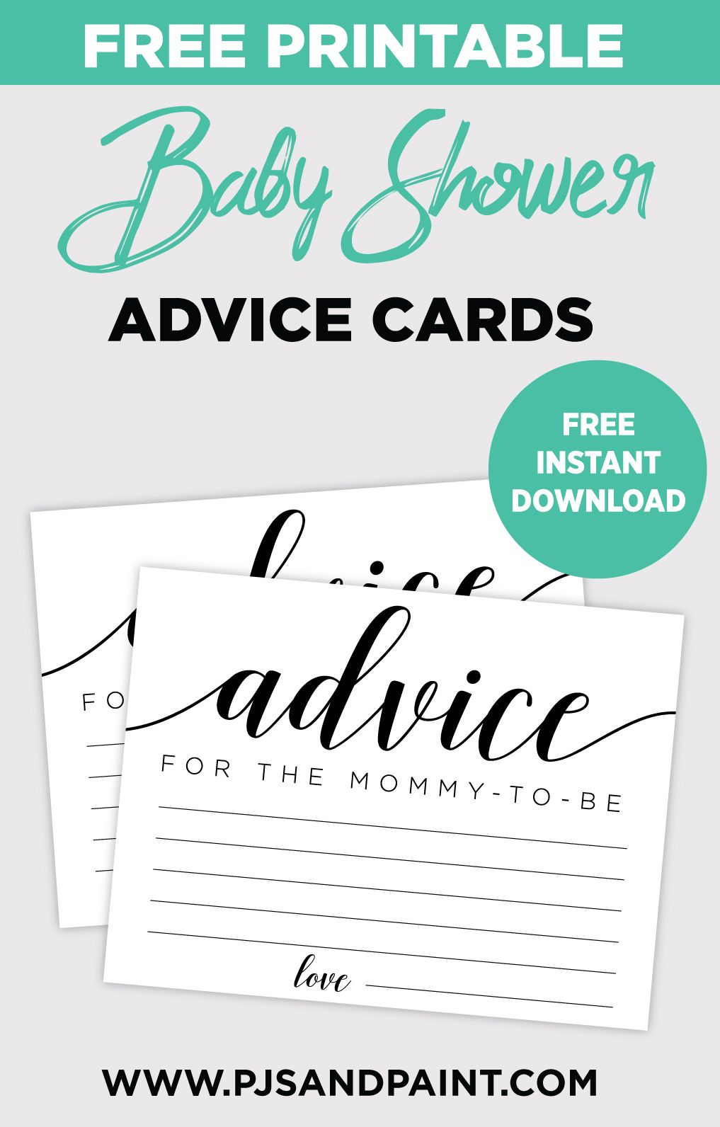 Free Printable Baby Shower Advice Cards Baby Shower Advice Free Baby Shower Printables Baby Shower Advice Cards