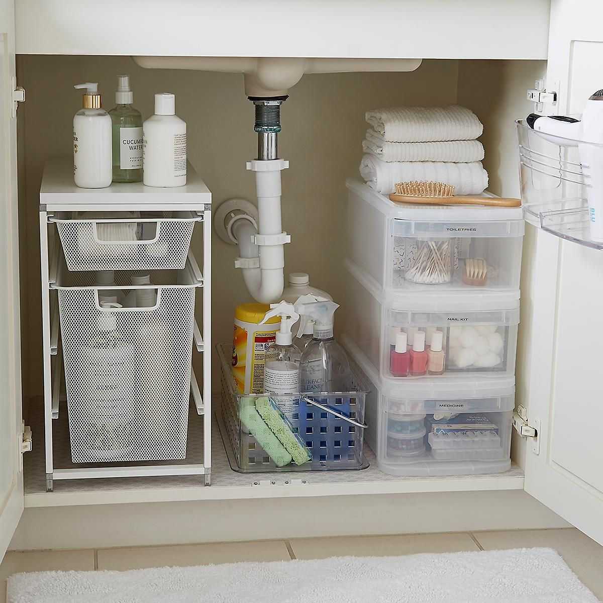 Organize Your Bathroom Sink Area Like A Professional Small Bathroom Storage Small Bathroom Organization Diy Bathroom Storage