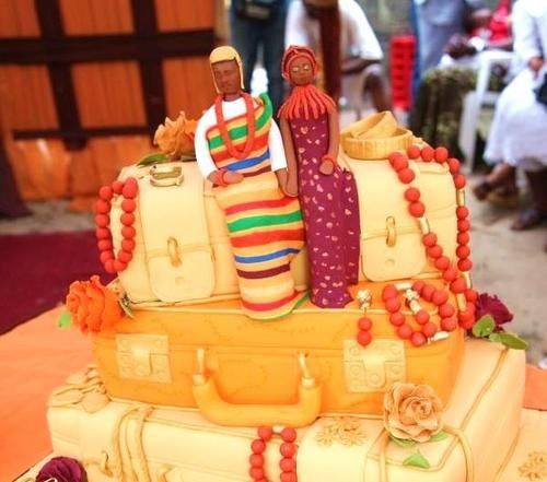 Nigerian Wedding Unique Creative Traditional Engagement Cakes Whats A Without The Cake Goes Hand