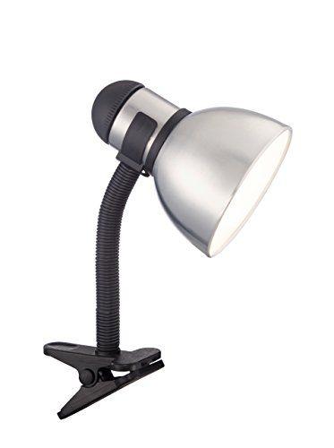 satco 57 057 clip on gooseneck desk lamp with 13 watt gu24 2700k rh pinterest at