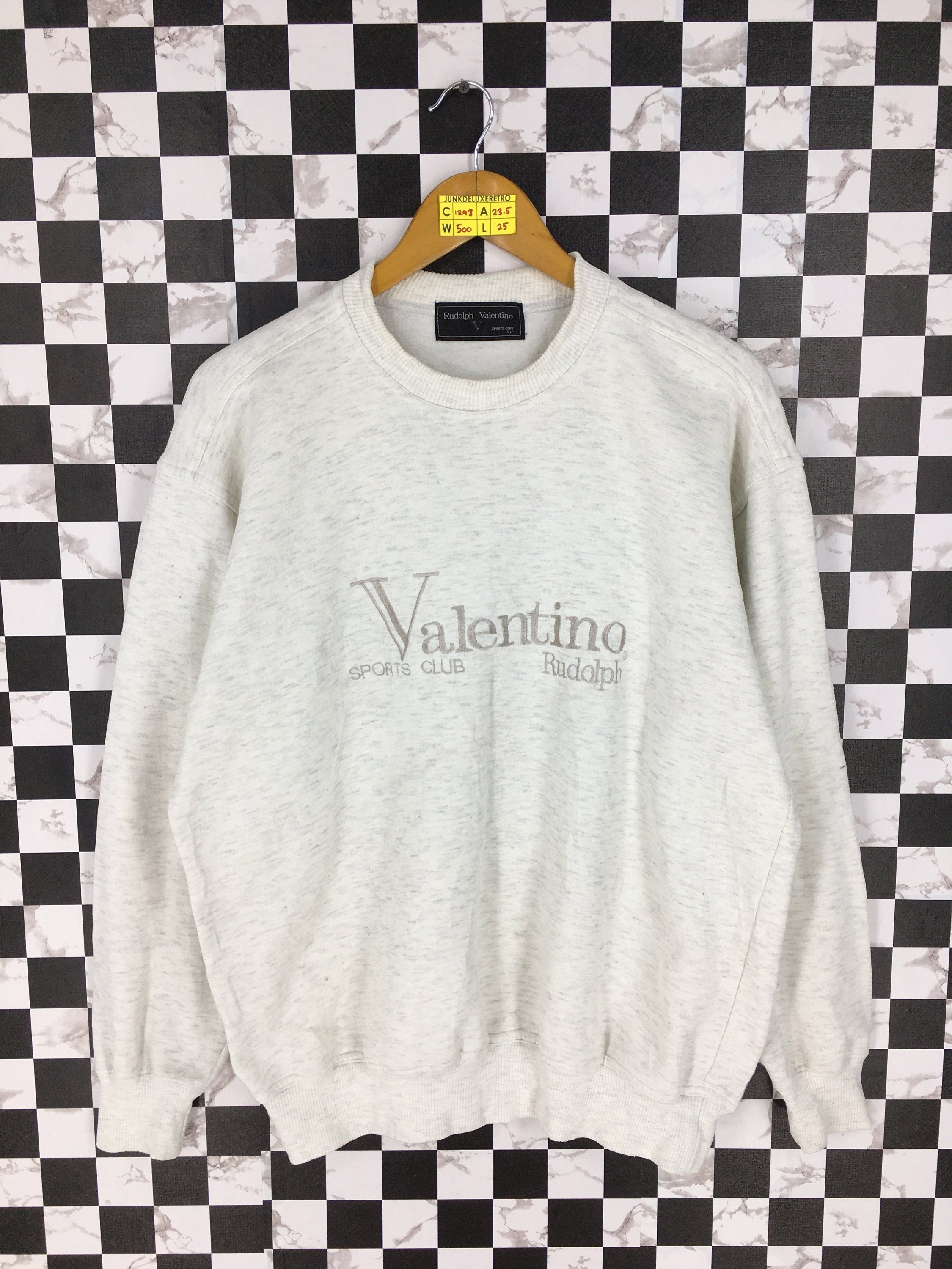 b8bd48a7c4c77 RUDOLPH VALENTINO Italy Jumper White Large Vintage 90's Italian ...
