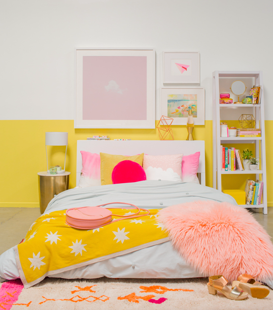 Color Adventures A Pink Yellow Bedroom Yellow Bedroom Decor Yellow Bedroom Colorful Bedroom Decor