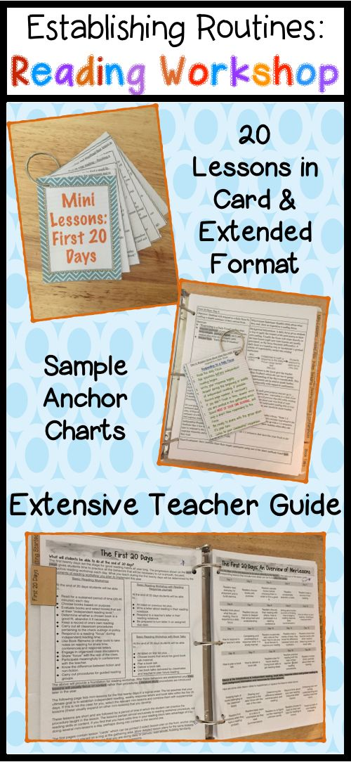 Reading workshop guide toolkit 55 mini lessons first 20 days 20 mini lessons and anchor charts to establish reading workshop routines choose and abandon spiritdancerdesigns Choice Image