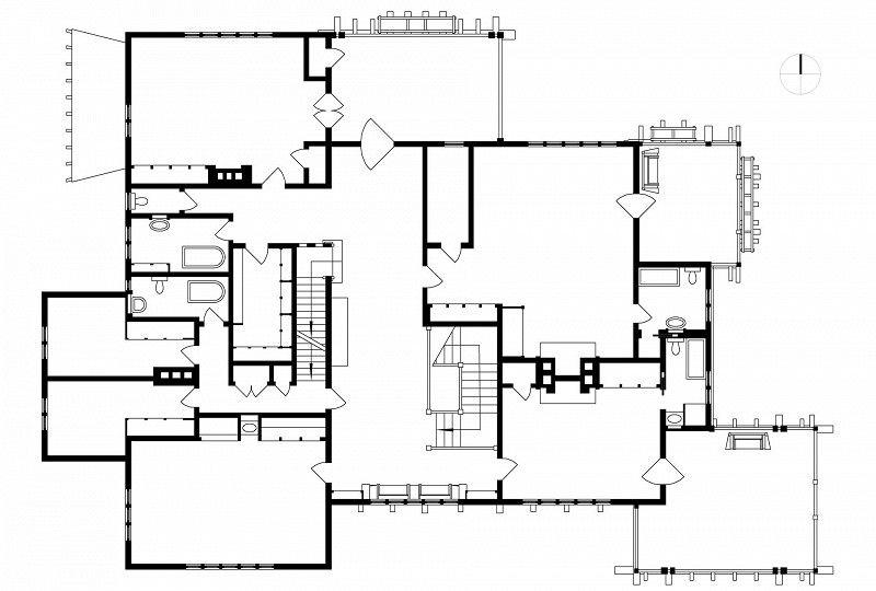 Gamble House Second Floor Plan Greene And Greene