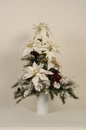 christmas centerpiece white centerpieces columns artificial large white poinsettia christmas centerpiece for