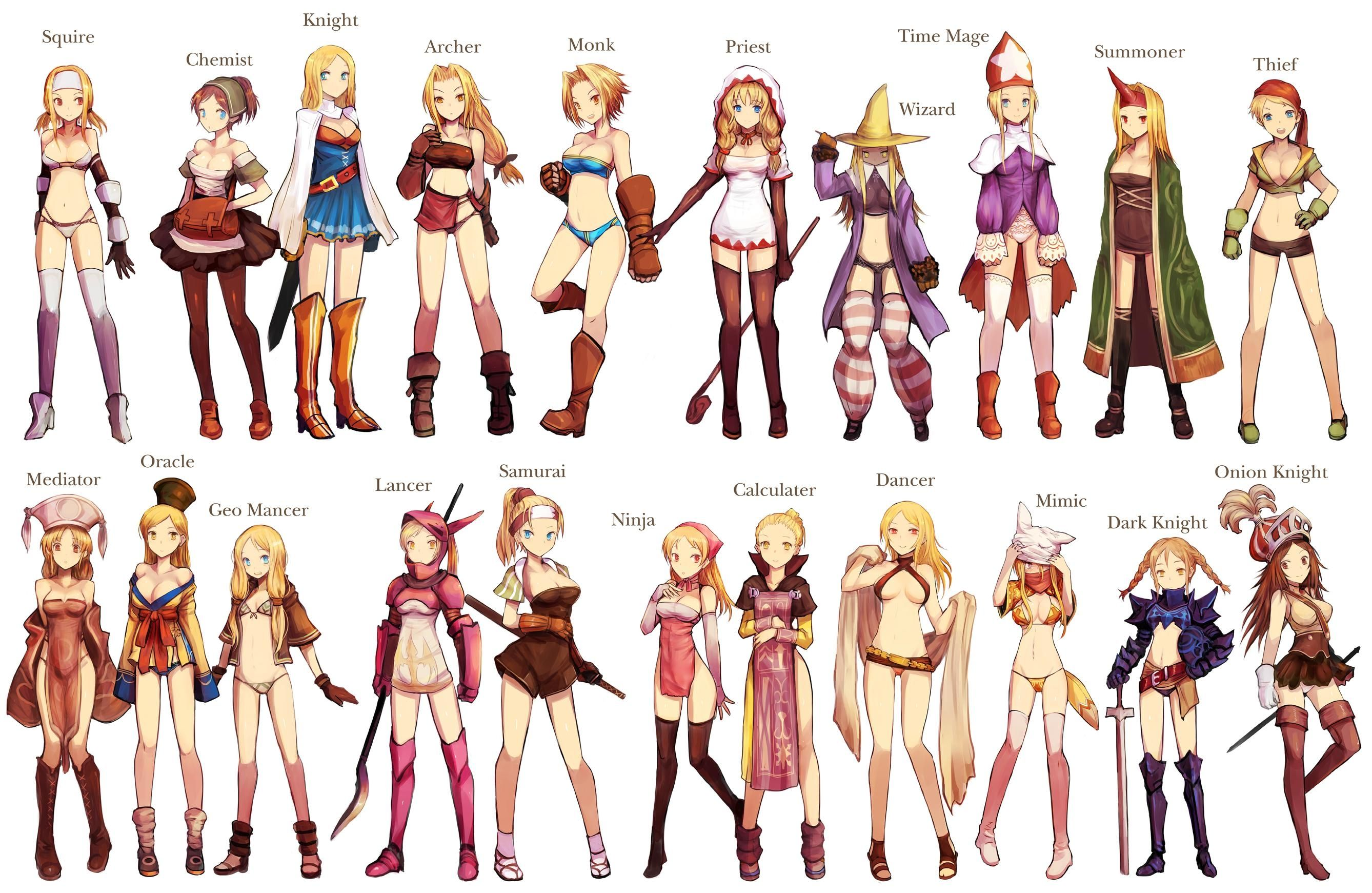 Game Design Character Classes : Cute pics of the job classes final fantasy and various