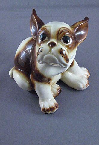 Vintage Ceramic French Bull Dog Figurine Wales Co Japan French Bulldog Breed Dog Figurines French Bulldog Puppies
