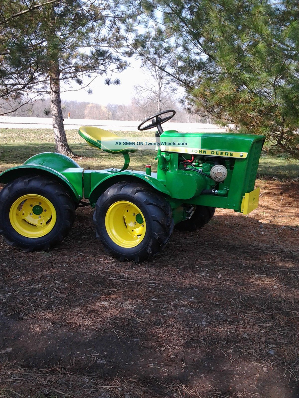 John Deere 110 Round Fender 4x4 Articulated Garden Tractor - Custom Built  Antique & Vintage Farm Equip photo