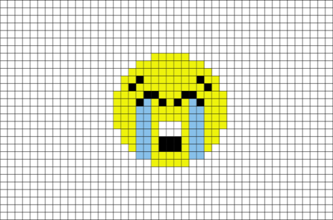 Loudly Crying Face Emoji Pixel Art Pixel Art Lego Art Pixel Art Templates