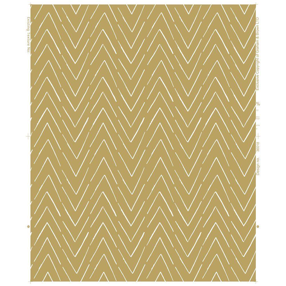 Wallpaper Zig Zag Stripe Yellow Striped wallpaper