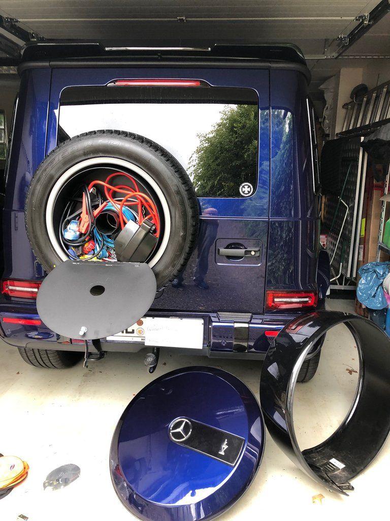 Spare Wheel Storage Box For 2019 W463a G Wagen G Wagen Mercedes