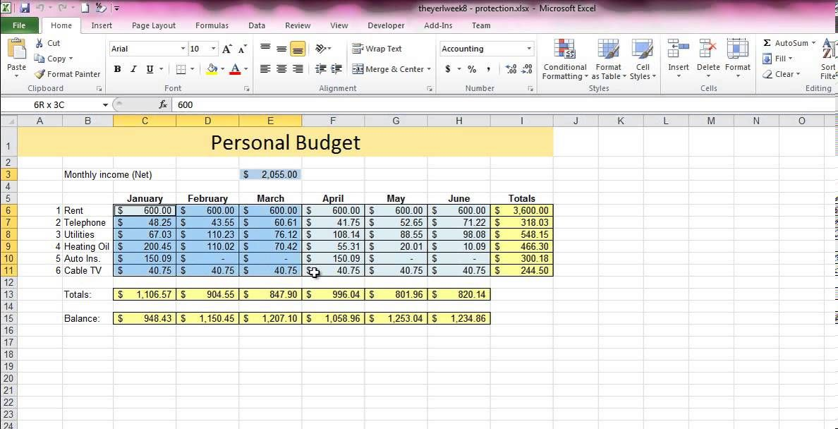 How to protect cells in an Excel Spreadsheet Microsoft