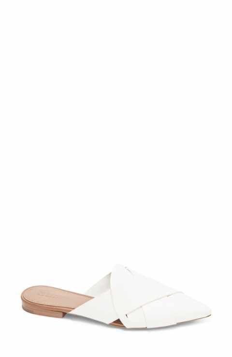 flat slip-on mules - White Mercedes Castillo U1mOO