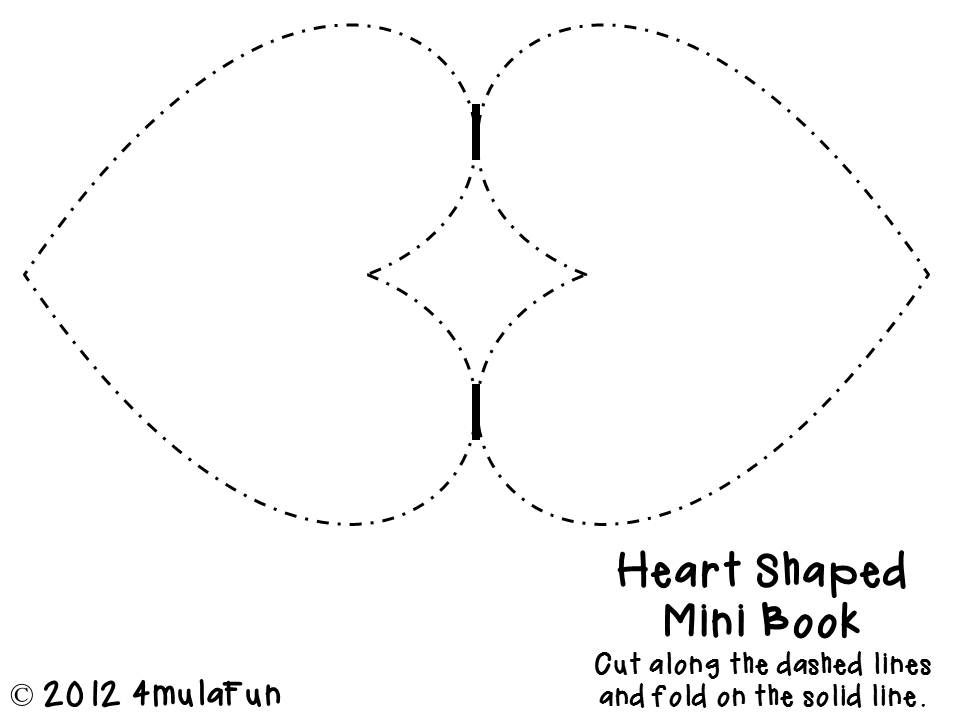 Freebie Heart Shaped Flip Book To Sample From My Foldable Template Pack